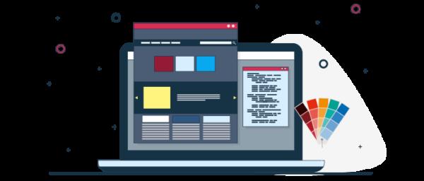 Ilustración maqueta y colores de un sitio ecommerce