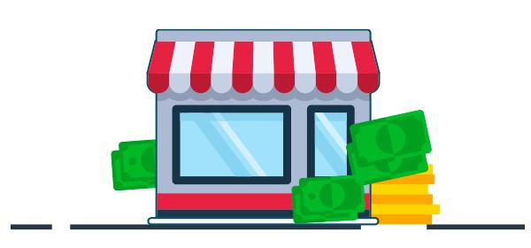 Ilustración ganancias por afiliados en e-commerce