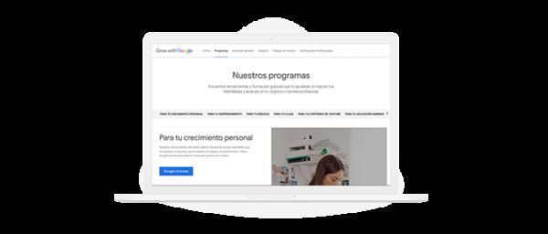 Ilustración plataforma grow with google