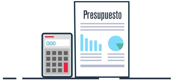 Ilustración calculo de presupuesto marketing
