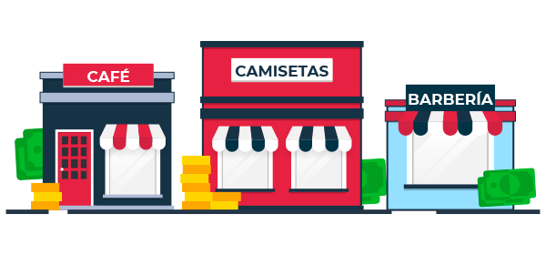 Ilustración locales de negocios formales