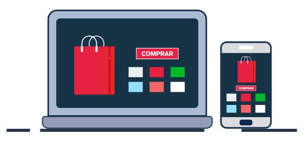 Vitrina para comprar productos virtuales