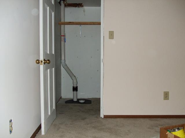 sump pump in closet