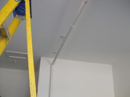 garage piping radon removal