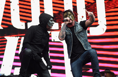 Recording artists Jorel 'J-Dog' Decker (L) and Daniel 'Danny' Murillo of Hollywood Undead