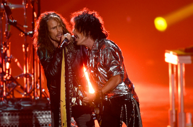 Steven Tyler and Joe Perry of Aerosmith perform onstage during the 2018 MTV Video Music Awards