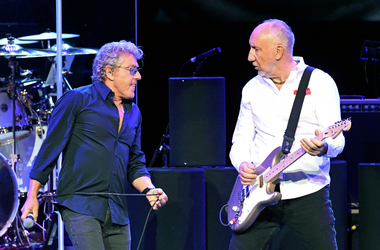 Singer Roger Daltrey (L) and guitarist Pete Townshend of The Who perform in 2017