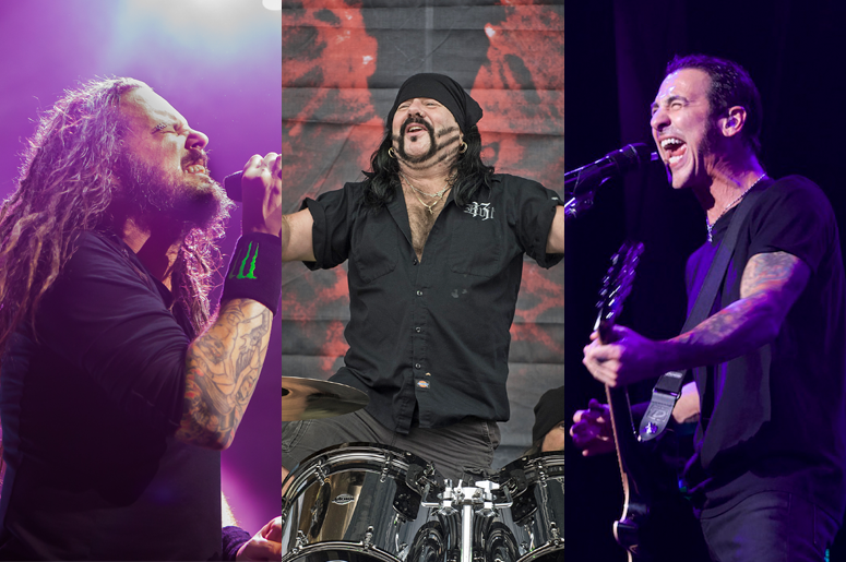 d89ad3d692cbde Jonathan Davis   Sully Erna Perform Live Tributes To Vinnie Paul at  Aftershock 2018