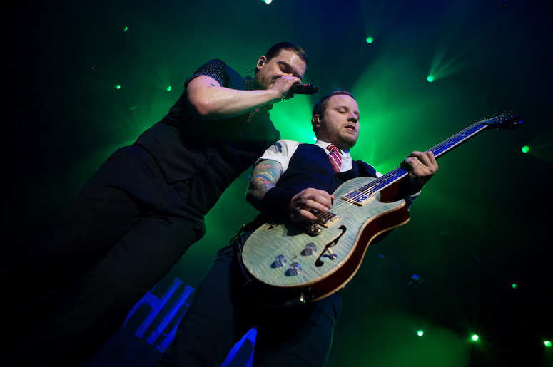 Brent Smith, Eric Bass, and Barry Kerch of Shinedown Held an