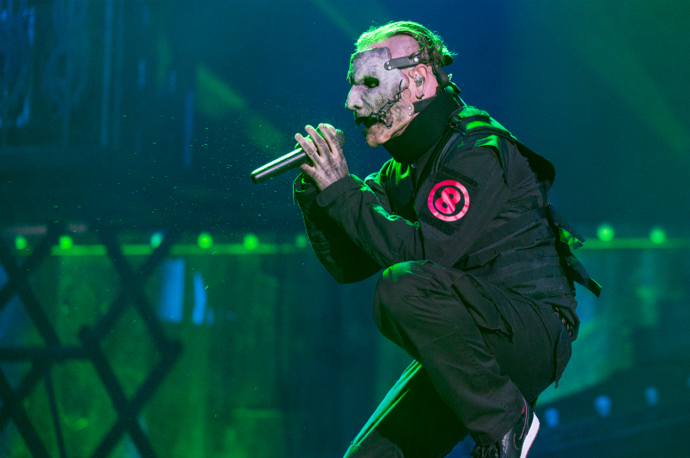 Corey Taylor of Slipknot at Toyota Park during Open Air Chicago on July 17, 2016, in Chicago, Illinois