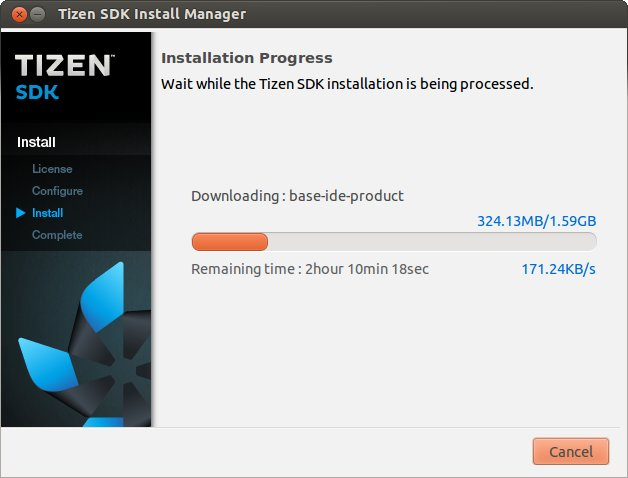 Tizen's loooong download