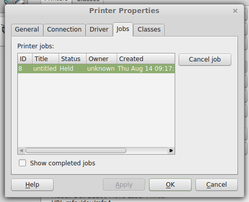 print job held