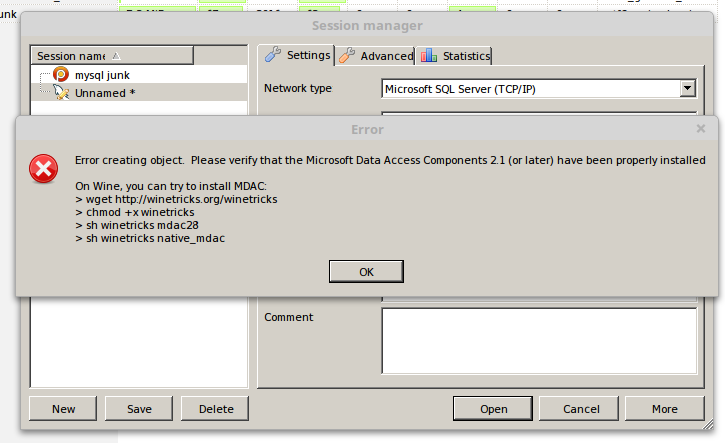 Database clients for Microsft SQL server on linux
