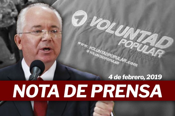 Nota de Prensa - Rafael Ramírez responde a Voluntad Popular