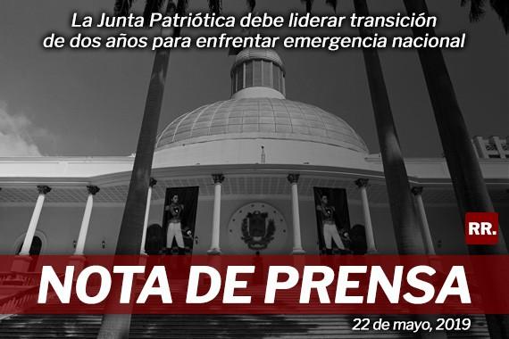 Rafael Ramírez: La Junta Patriótica debe liderar transición de dos años para enfrentar emergencia nacional
