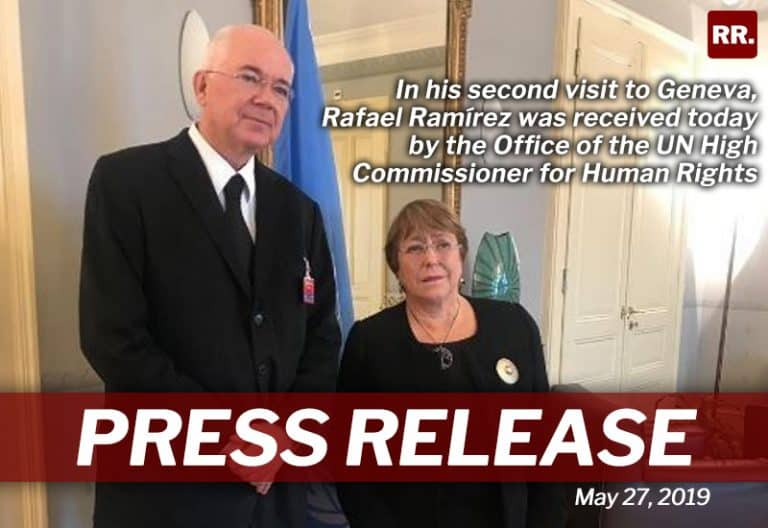 In-his-second-visit-to-Geneva,-Rafael-Ramírez-was-received-today-by-the-Office-of-the-UN-High-Commissioner-for-Human-Rights