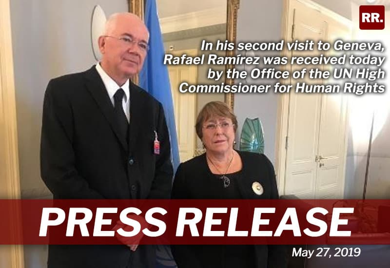 Ramírez presented Bachelet more evidence of political persecution and human rights violations in Venezuela
