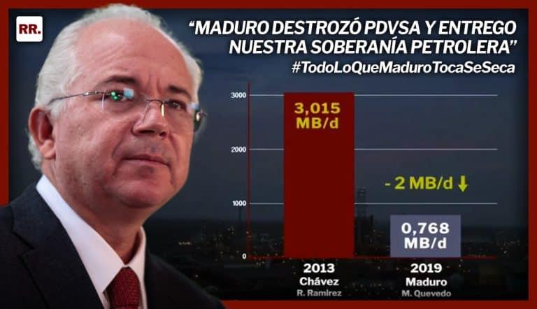 Cómo Maduro destrozó PDVSA y entrego nuestra soberanía petrolera