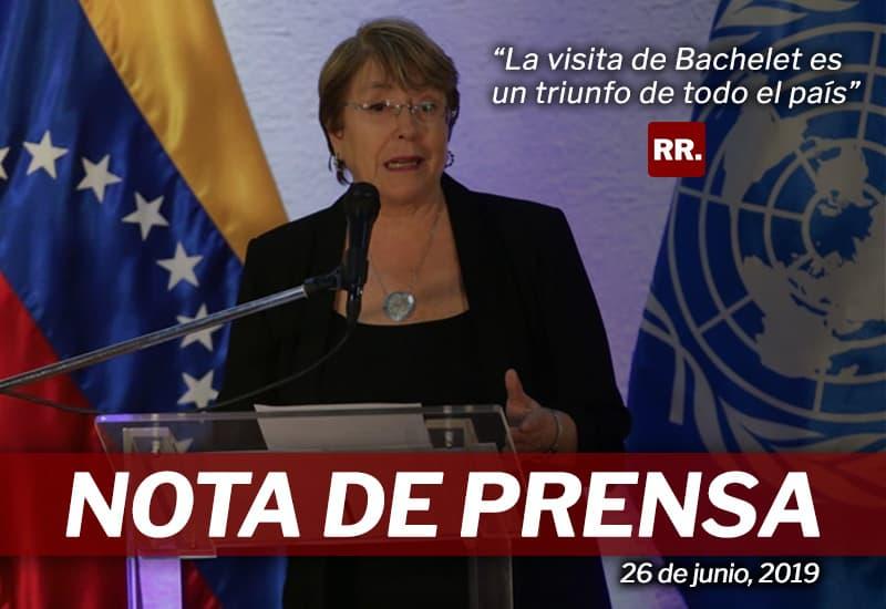 Rafael Ramírez: La visita de Bachelet es un triunfo de todo el país