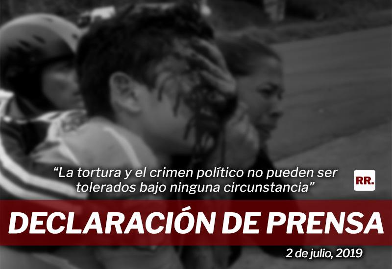 Declaración de prensa ante la represión madurista