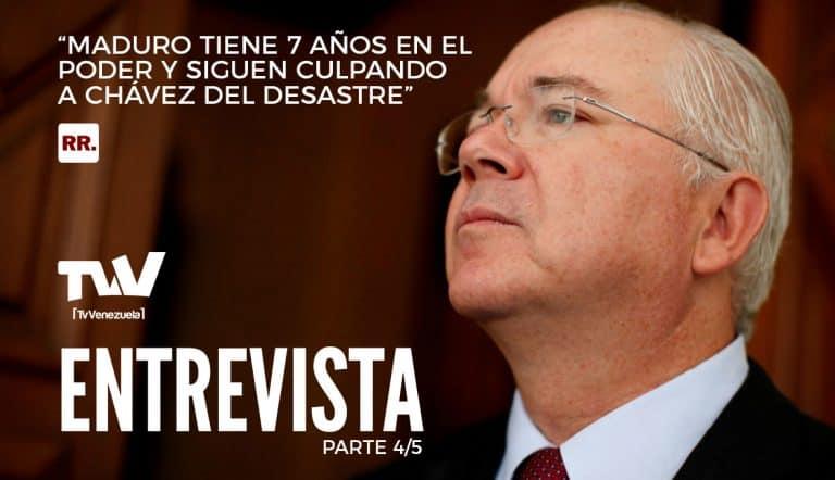 """Rafael Ramírez: """"Maduro tiene 7 años en el poder y siguen culpando a Chávez del desastre"""" Parte 4/5"""