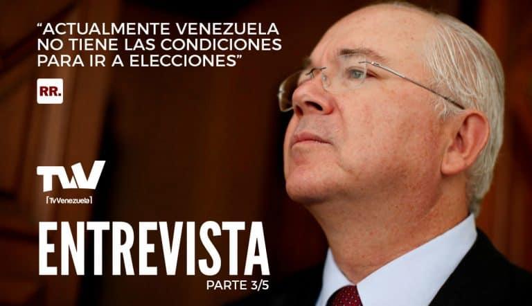 """Rafael Ramírez: """"Actualmente Venezuela no tiene las condiciones para ir a elecciones"""" - Parte 3/5"""