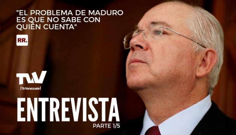 """Rafael Ramírez: """"El problema de Maduro es que no sabe con quién cuenta"""" - Parte 1/5"""