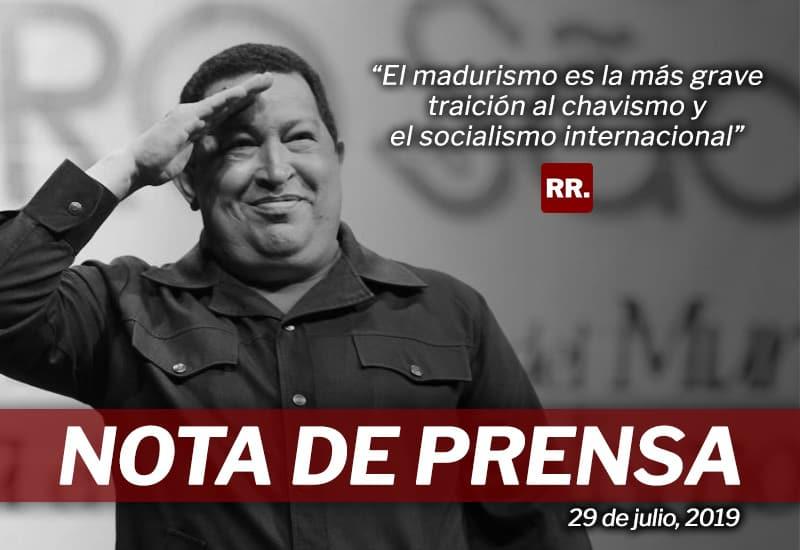 El madurismo es la más grave traición al chavismo y el socialismo internacional
