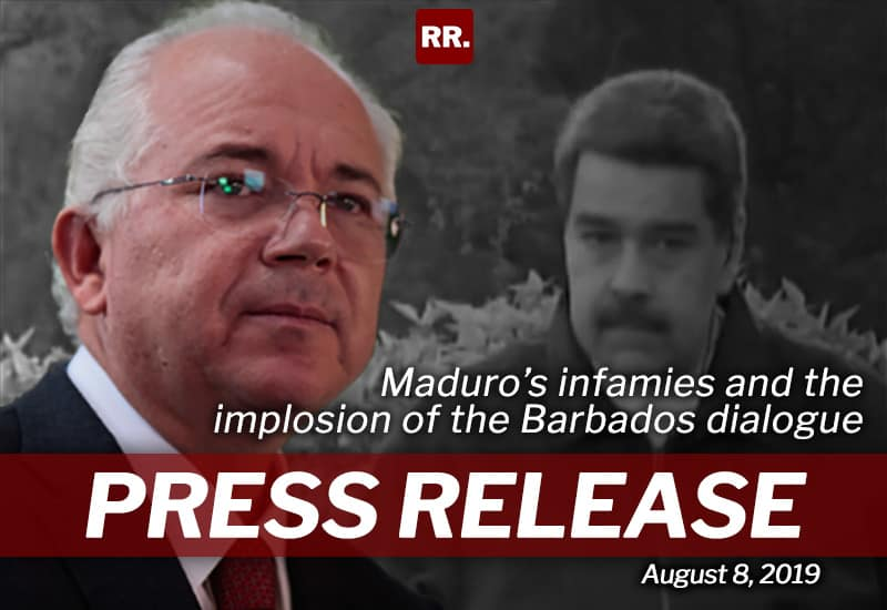 Press release on Maduro's infamies and the implosion of the Barbados dialogue