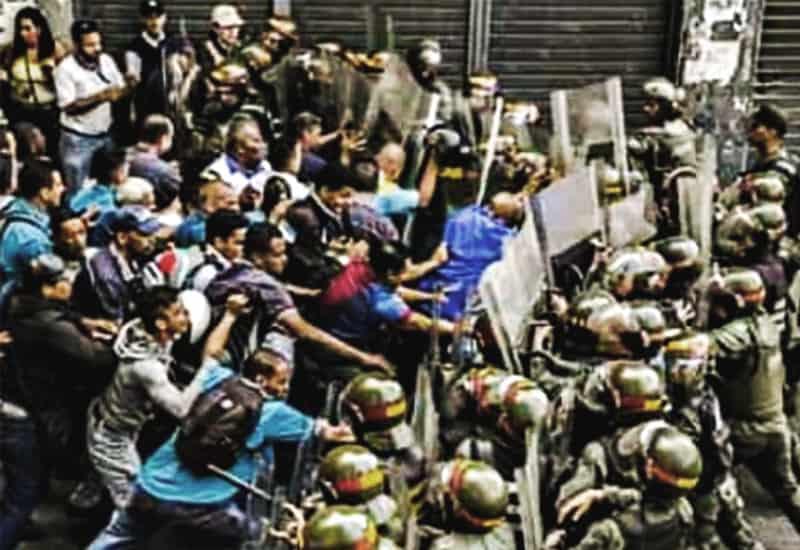 Los trabajadores en lucha