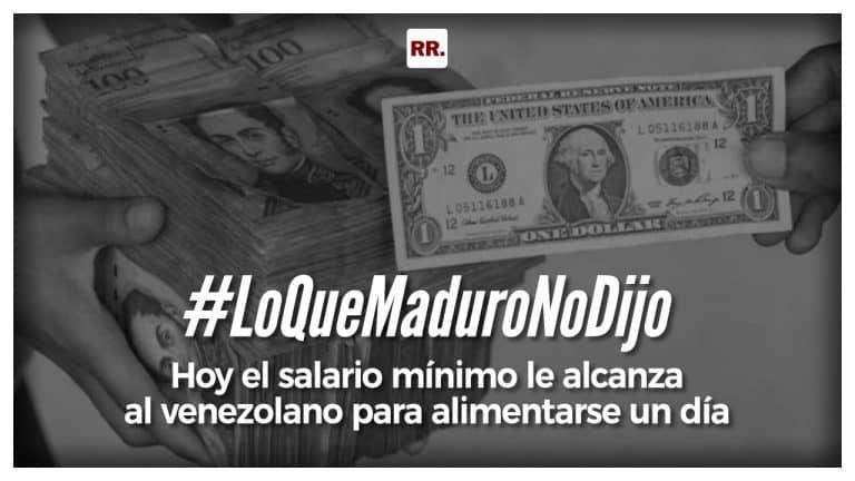 Hoy el salario mínimo le alcanza al venezolano para alimentarse un día
