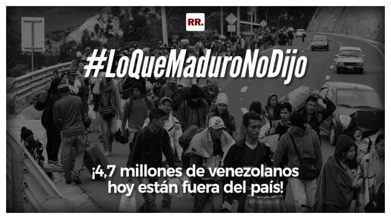 ¡4,7 millones de venezolanos hoy están fuera del país!