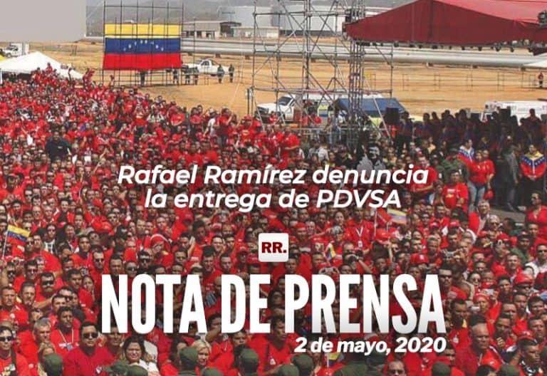 Rafael Ramírez denuncia la entrega de PDVSA