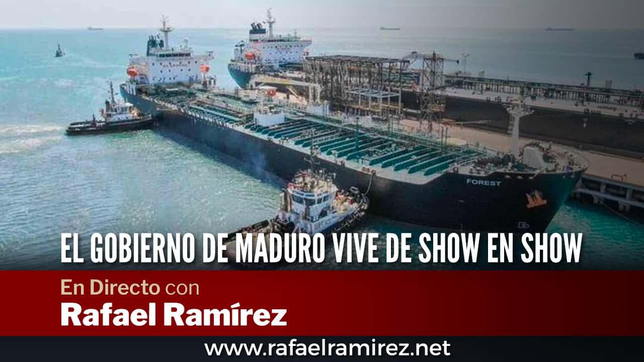En directo con Rafael Ramírez: El gobierno de maduro vive de show en show