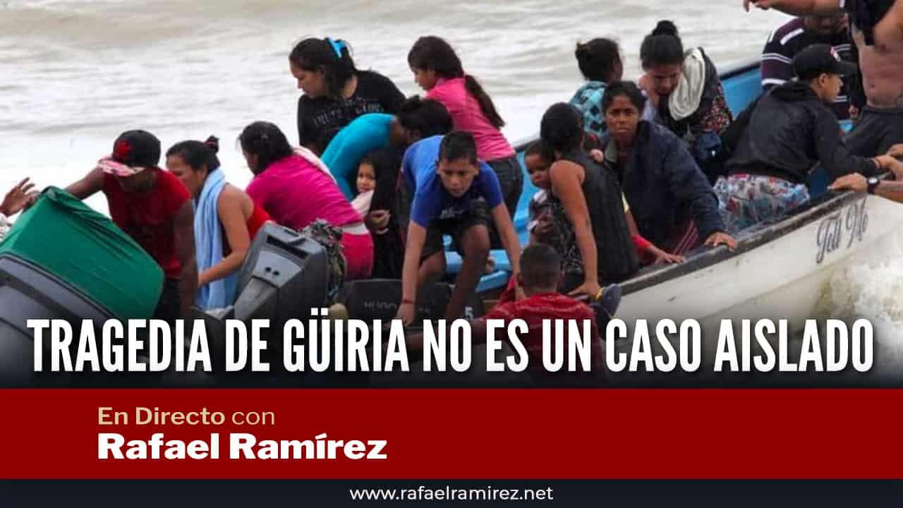 En directo con Rafael Ramírez: Tragedia de Güiria no es un caso aislado