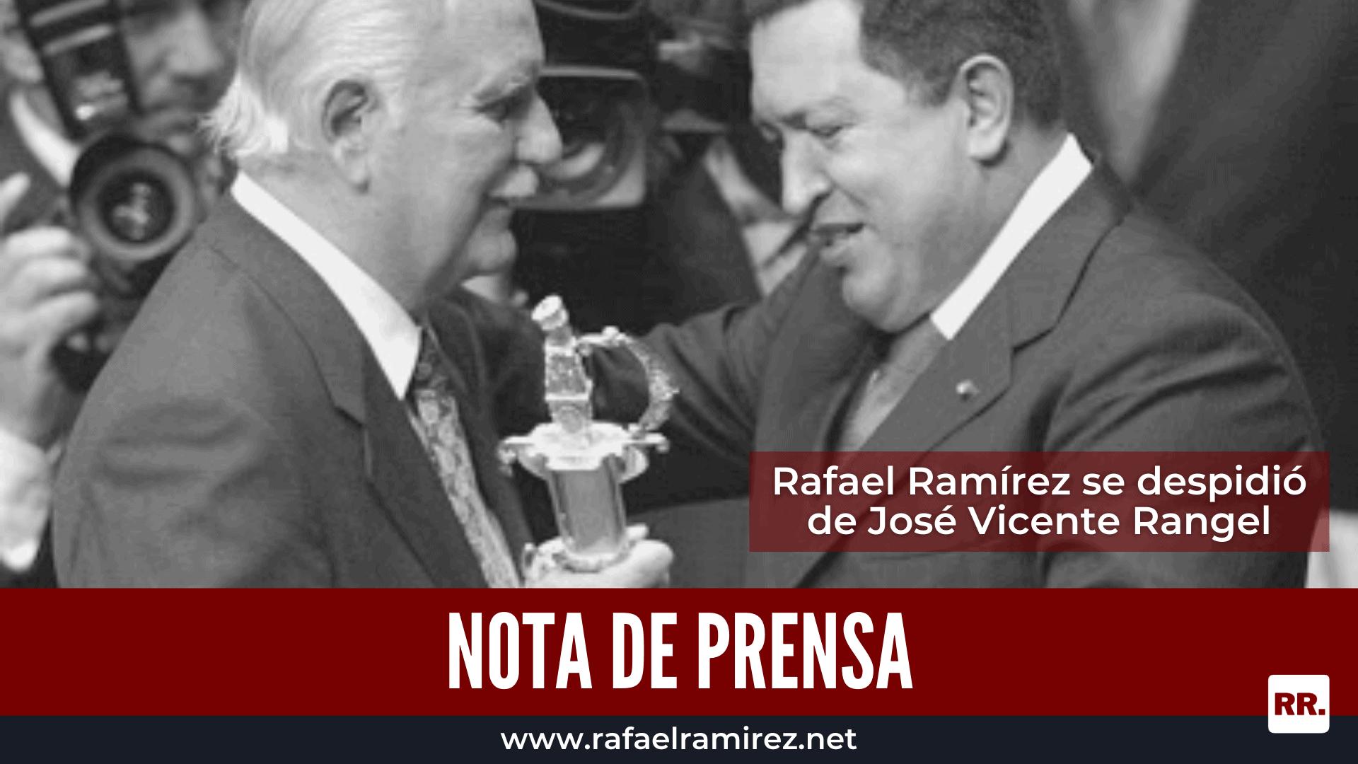 Rafael Ramírez se despidió de José Vicente Rangel