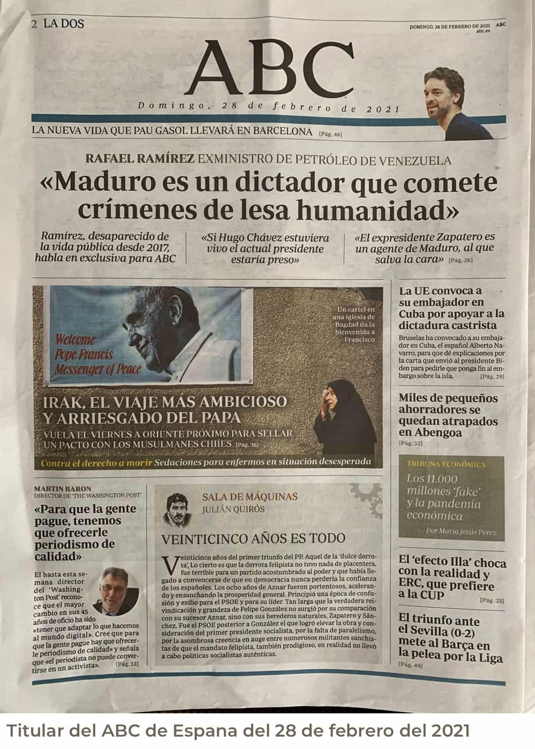 «Maduro es un dictador que comete crímenes de lesa humanidad»