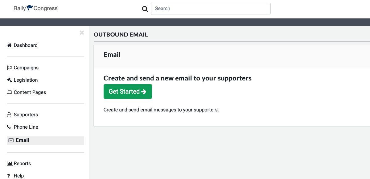 Screenshot of Email Sending Process