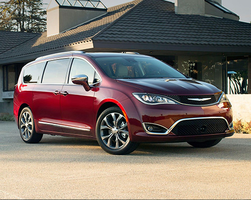 Red Chrysler Pacifica Limited available in Bismarck at Eide Chrysler.