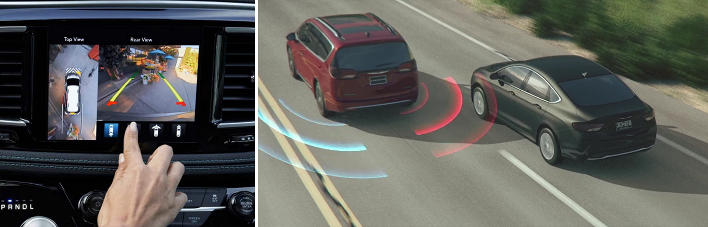 Blind Spot Monitoring and a backup camera are just a few of the impressive safety features found on the latest Chrysler Pacifica from Eide Chrysler.