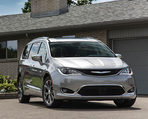 Silver Chrysler Pacifica Touring available in Pine City at Eide CDJR Pine City.