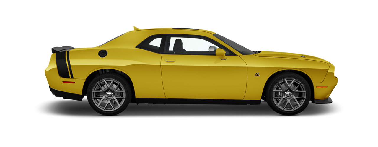 Yellow Dodge Challenger waiting for you in Bismarck ND at Eide Chrysler.