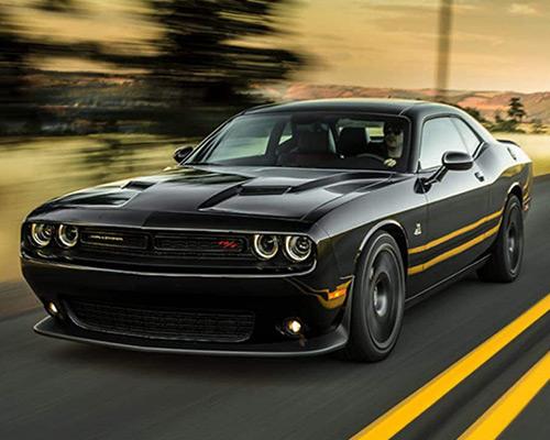 Black Dodge Challenger R/T available at Eide Chrysler in Bismarck.