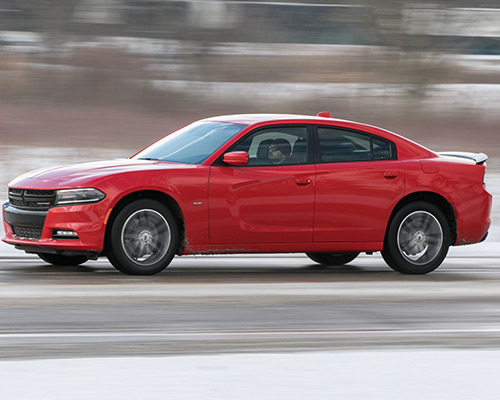 Red Dodge Charger GT AWD for sale at Eide Chrysler in Bismarck.