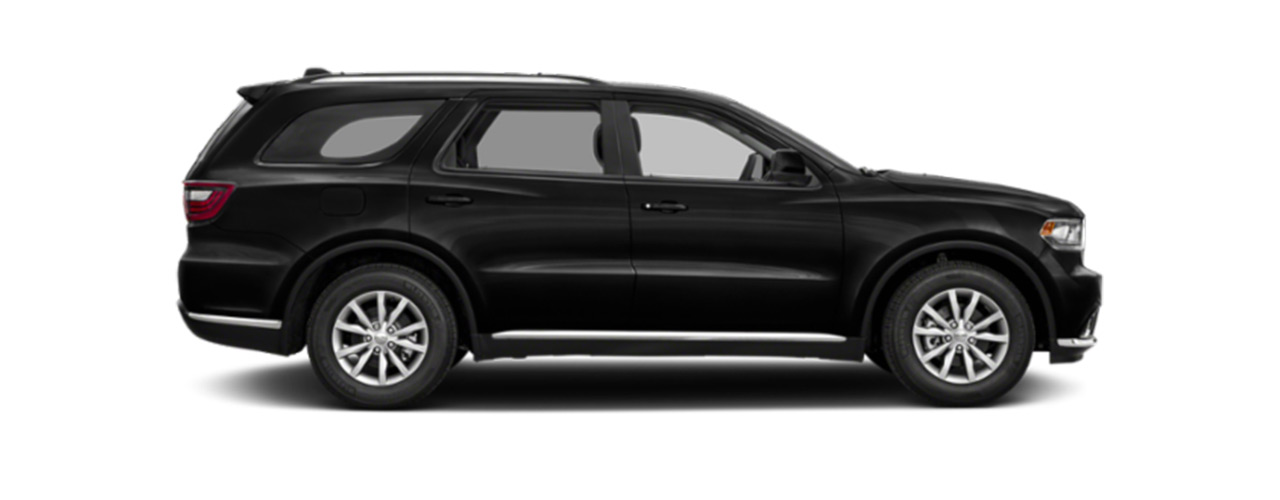 Black Dodge Durango for sale or lease only at Eide Chrysler in Bismarck ND.
