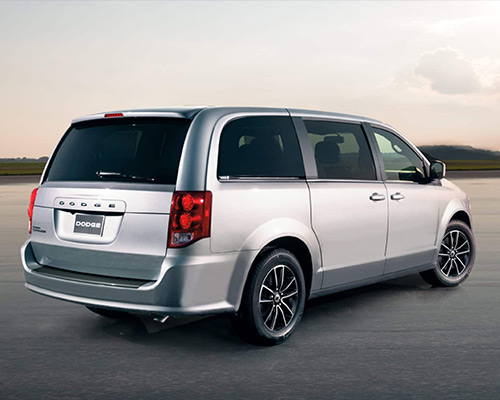 Silver Dodge Grand Caravan SE Plus for sale or lease at Landmark Chrysler Dodge Jeep Ram FIAT of Atlanta in Atlanta GA.