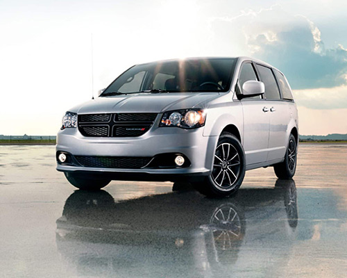 Silver Dodge Grand Caravan SXT for sale or lease at Landmark Chrysler Dodge Jeep Ram FIAT of Atlanta in Atlanta GA.