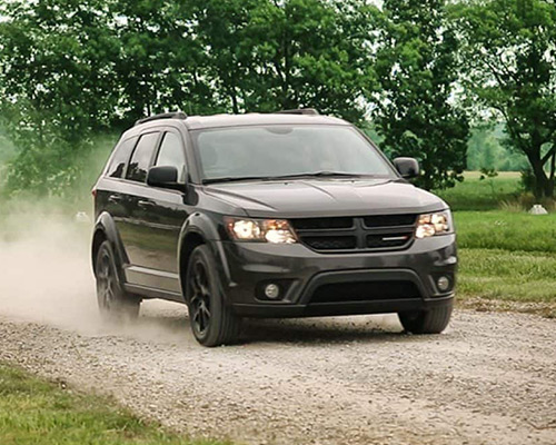 Black Dodge Journey SE now for sale or lease at Eide Chrysler in Bismarck.