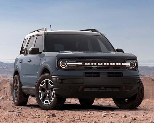 Blue 2021 Ford Bronco Sport Outer Banks for sale or lease here at Bill Dube Ford in %SEO_LOCATION.