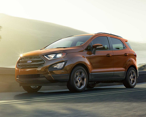 2019 Orange Ford EcoSport SES for sale at Bill Dube Ford in Dover.